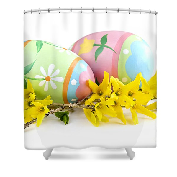 Easter eggs Shower Curtain by Elena Elisseeva