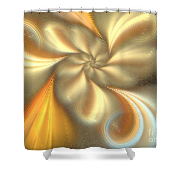 Ecru Shower Curtain by Kim Sy Ok