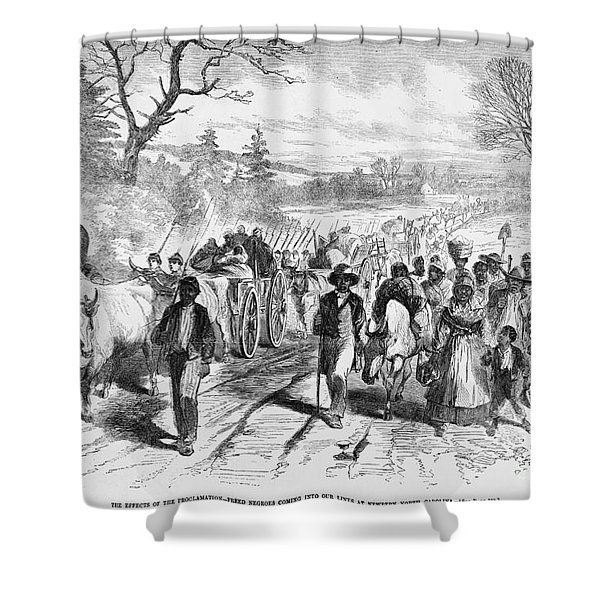Effects Of Emancipation Proclamation Shower Curtain by Photo Researchers