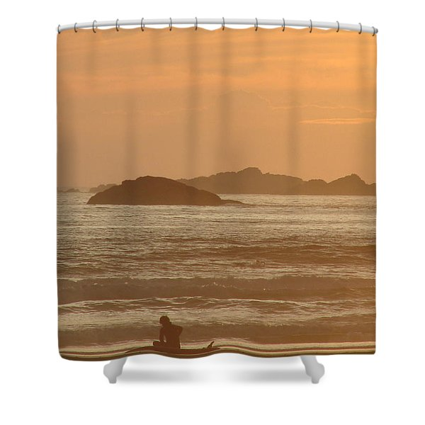 End Of Day Shower Curtain by Ramona Johnston
