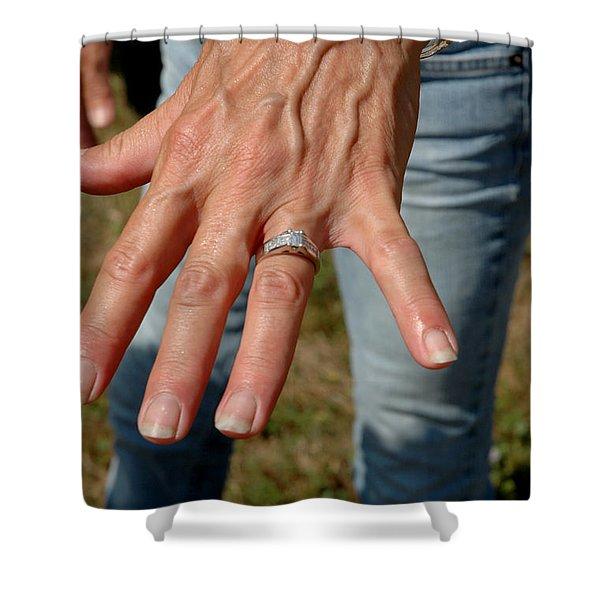 Engaged Shower Curtain by LeeAnn McLaneGoetz McLaneGoetzStudioLLCcom