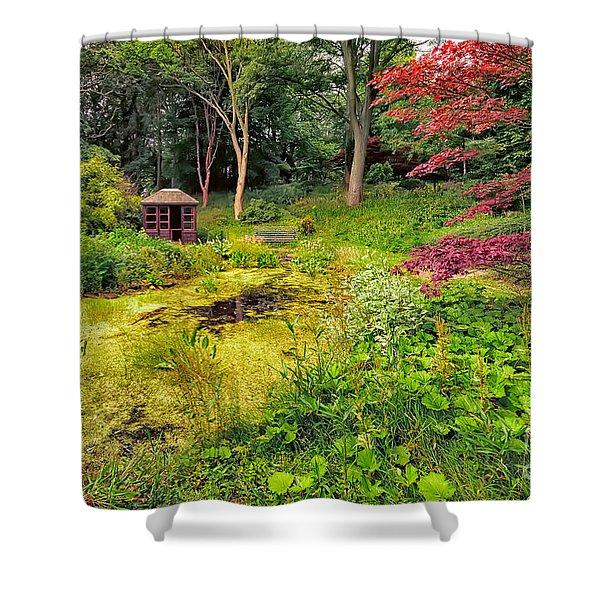 English Garden  Shower Curtain by Adrian Evans