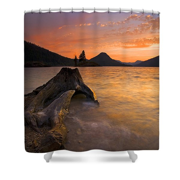 Eroded Away Shower Curtain by Mike  Dawson