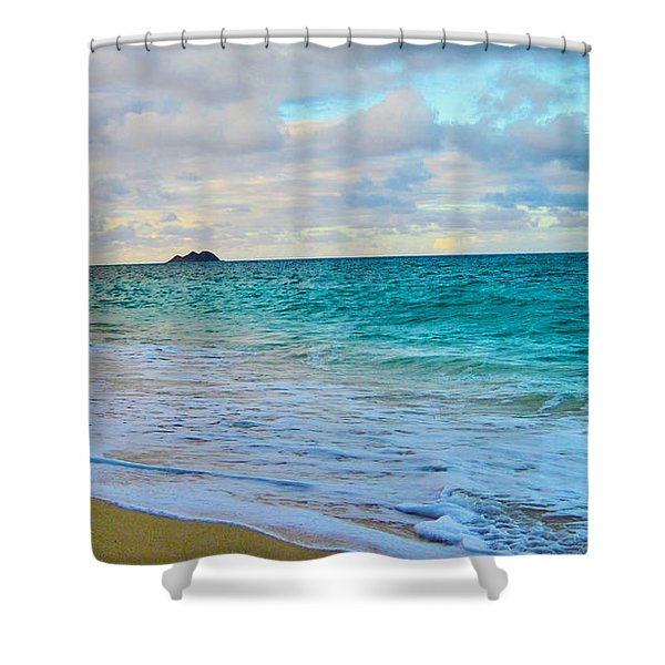 Evening on the Beach Shower Curtain by Cheryl Young