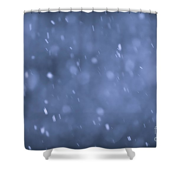 Evening snow Shower Curtain by Elena Elisseeva