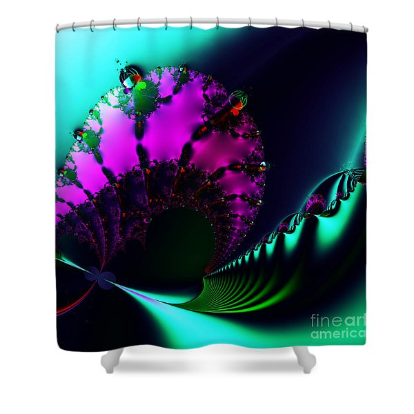 Event Horizon . S17 Shower Curtain by Wingsdomain Art and Photography