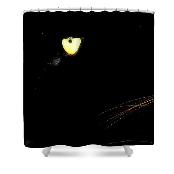 Eye of the Panther Shower Curtain by KAREN WILES
