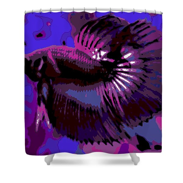 Fabulous Fins Shower Curtain by George Pedro