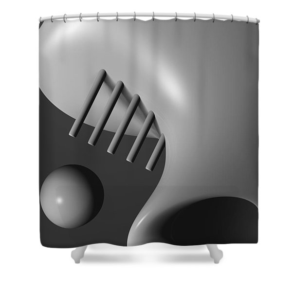 Face In The Crowd Shower Curtain by Richard Rizzo