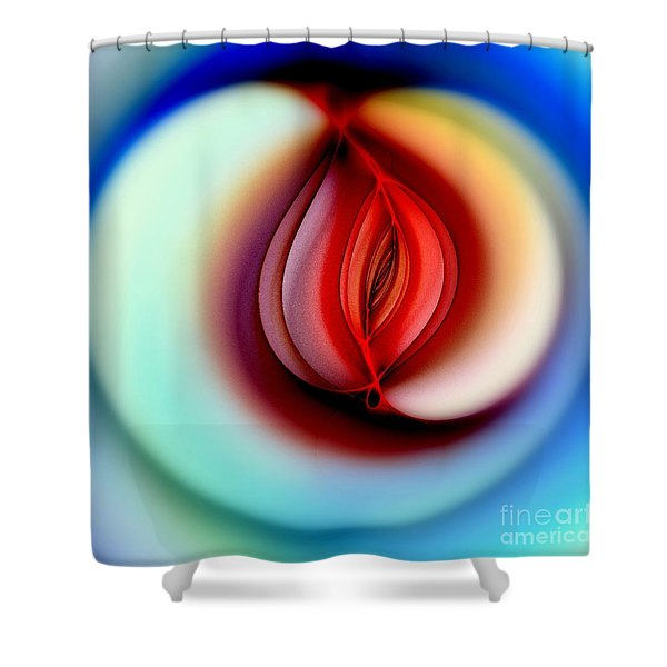 Fall Into Sin Shower Curtain by Klara Acel