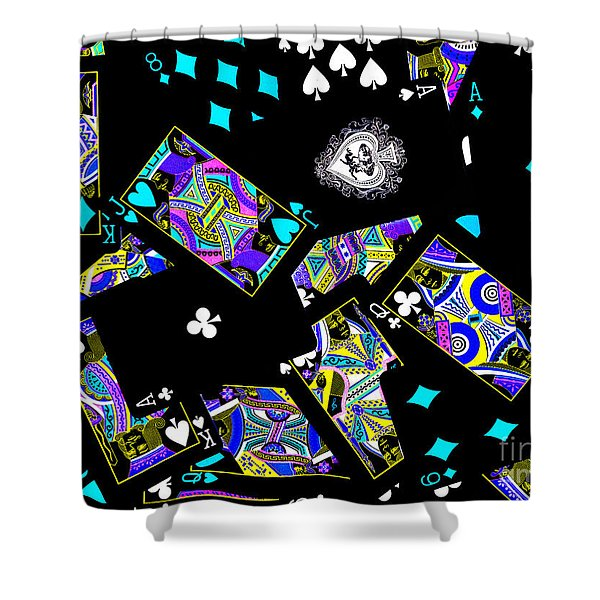 Fall of The House of Cards Shower Curtain by Wingsdomain Art and Photography