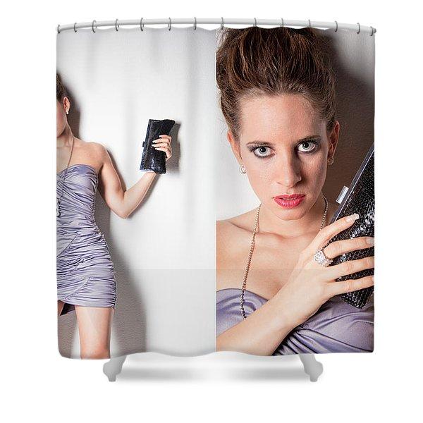 fashion collage Shower Curtain by Ralf Kaiser