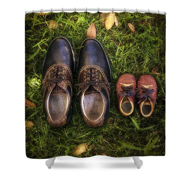 father and child Shower Curtain by Joana Kruse