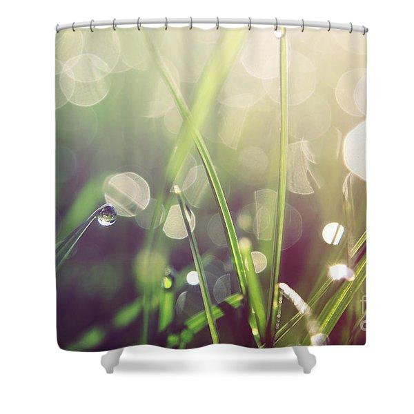 Feeling Good Shower Curtain by Aimelle