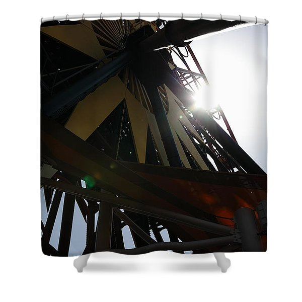 Ferris Wheel - 5D17616 Shower Curtain by Wingsdomain Art and Photography