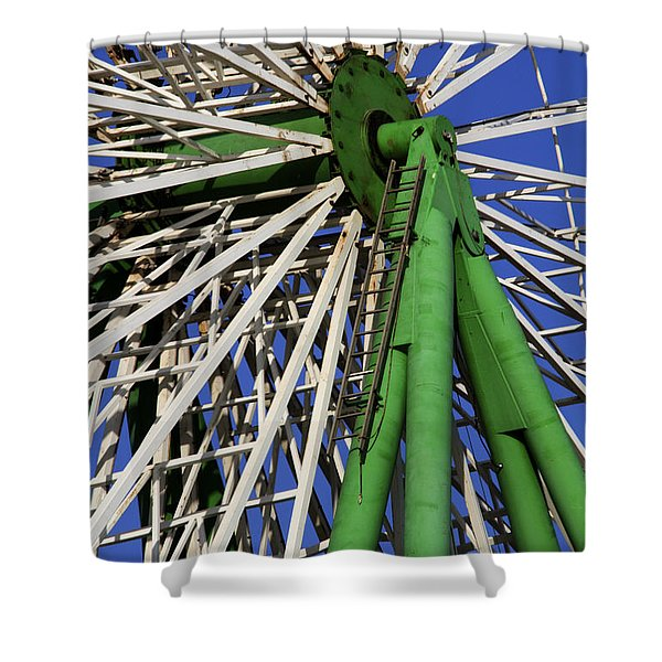 Ferris Wheel  Shower Curtain by Stylianos Kleanthous