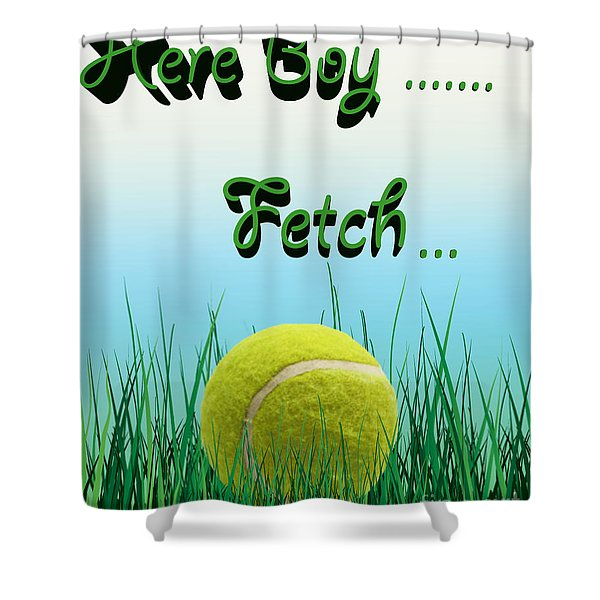 Fetch Shower Curtain by Cheryl Young