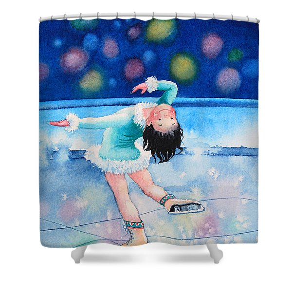 Figure Skater 16 Shower Curtain by Hanne Lore Koehler