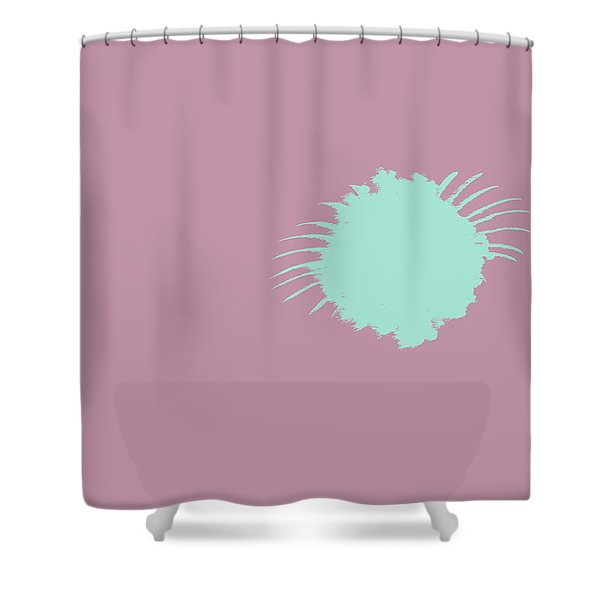 Firework Abstract l Shower Curtain by Michelle Calkins