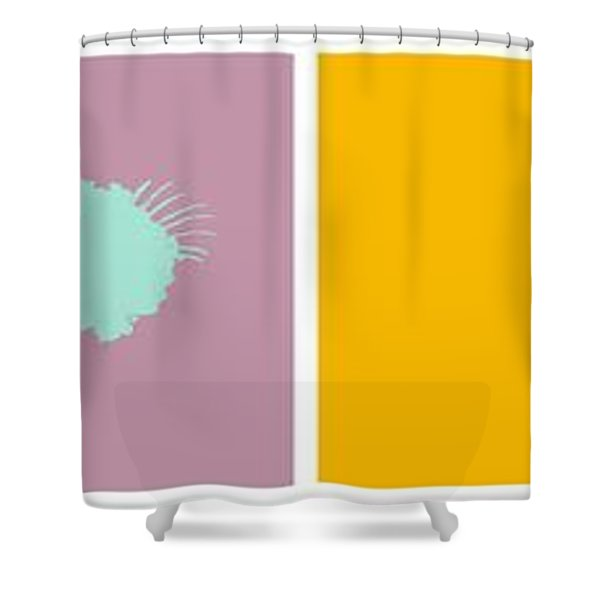 Firework Collage Shower Curtain by Michelle Calkins
