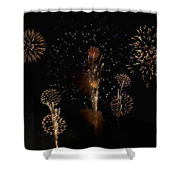 Fireworks Shower Curtain by Bill Cannon