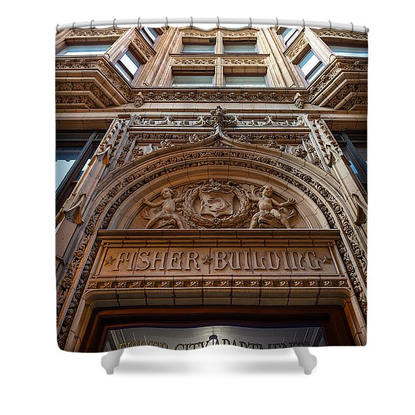 Fisher Building Chicago Shower Curtain by Steve Gadomski