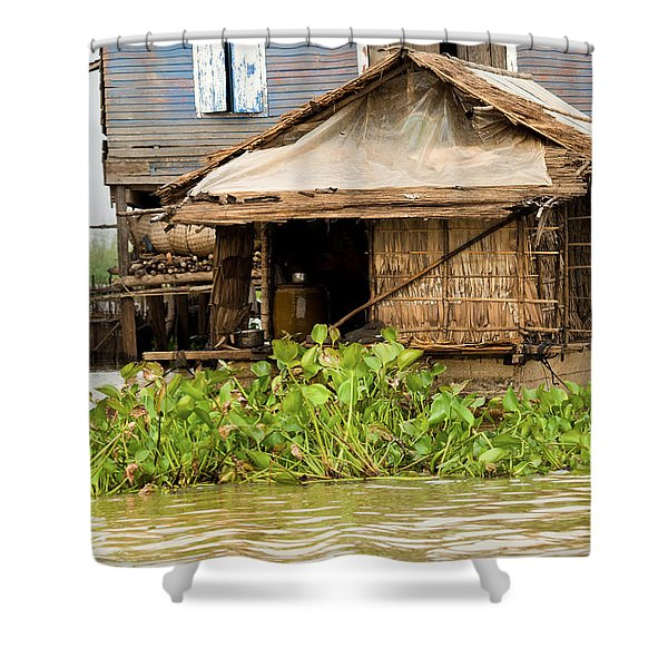 Fisherman Boat House Shower Curtain by Artur Bogacki