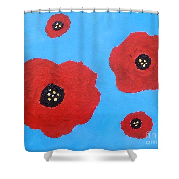 Floating Flowers Shower Curtain by Alys Caviness-Gober