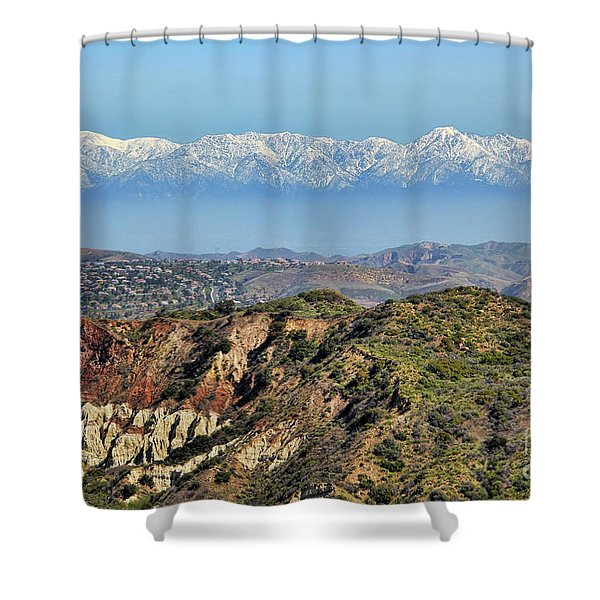 Floating in the Sky Shower Curtain by Mariola Bitner