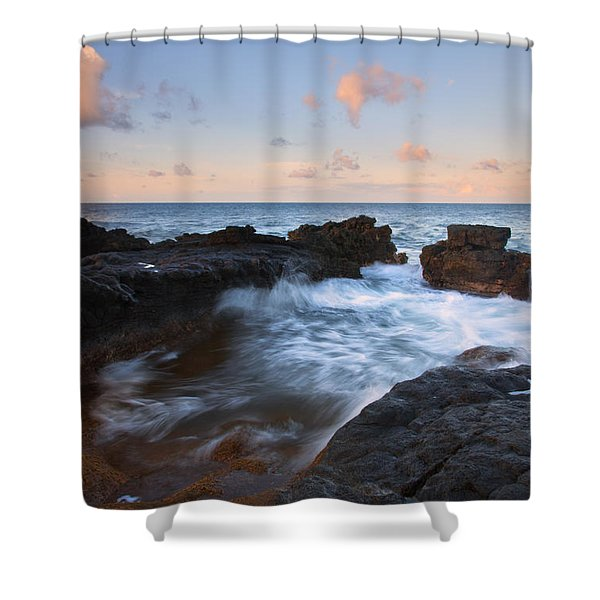Flooding The Cracks Shower Curtain by Mike  Dawson
