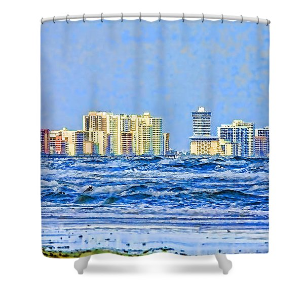 Florida Turbulence Shower Curtain by Deborah Benoit