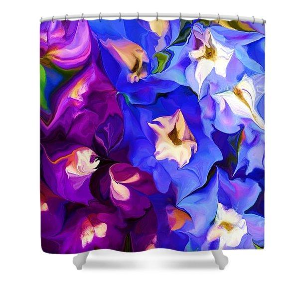 Flower Arrangement 012812 Shower Curtain by David Lane