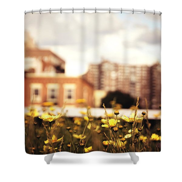 Flowers - High Line Park - New York City Shower Curtain by Vivienne Gucwa