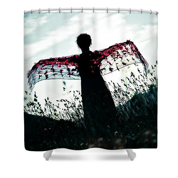 flying Shower Curtain by Joana Kruse