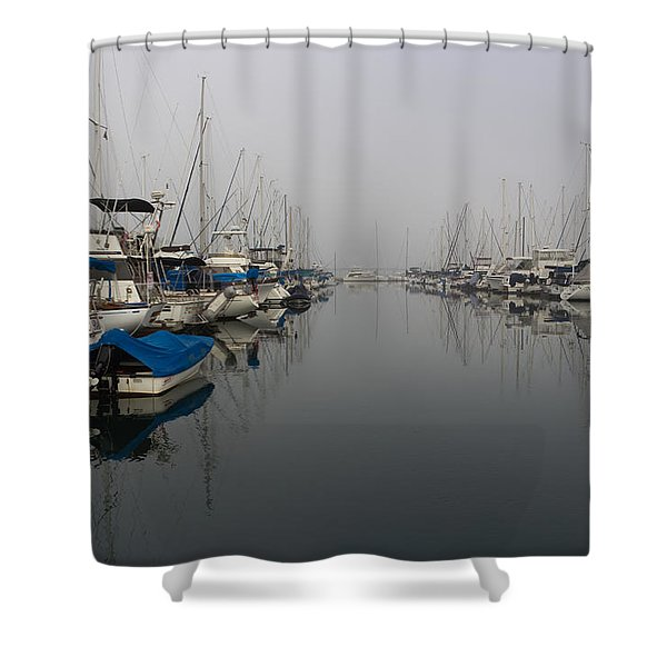 Foggy Morn Shower Curtain by Heidi Smith