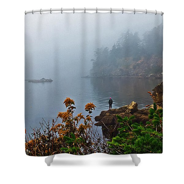 Foggy Morning Shower Curtain by Robert Bales