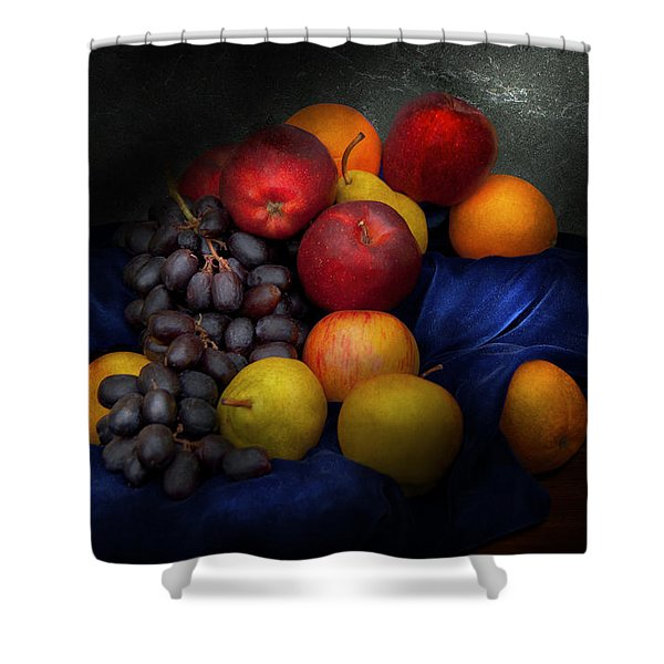 Food - Fruit - Fruit Still Life Shower Curtain by Mike Savad