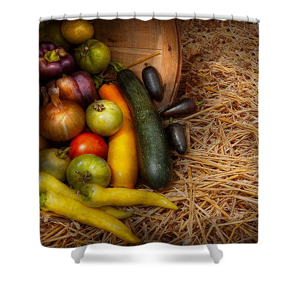 Food - Vegetables - Very Early Harvest Shower Curtain by Mike Savad