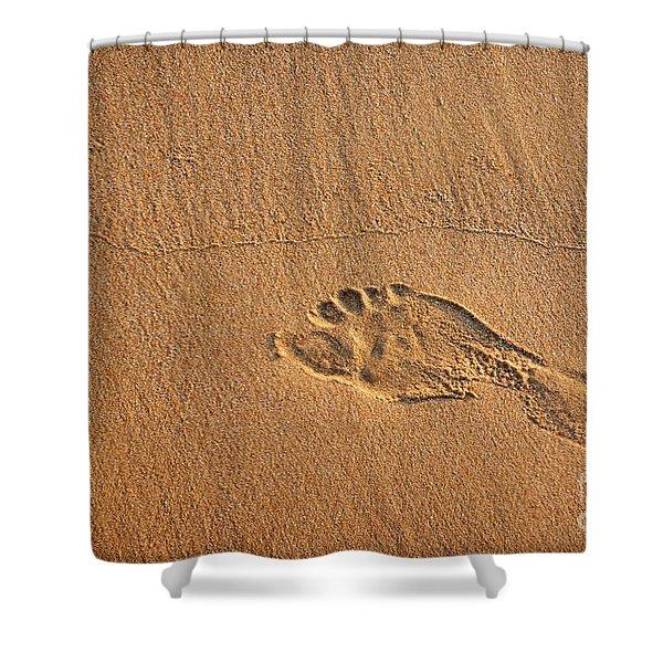 foot print Shower Curtain by Carlos Caetano