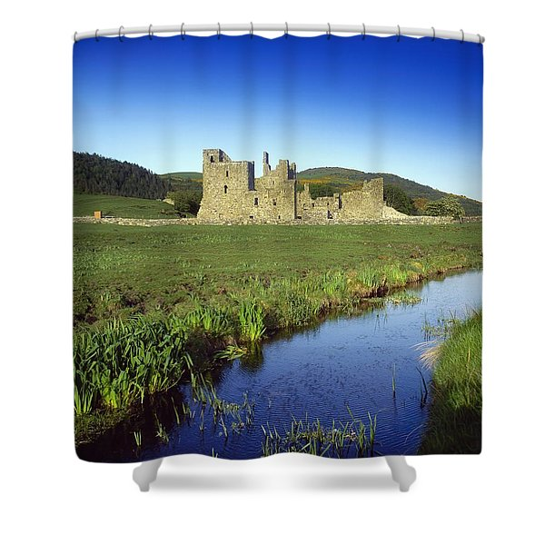 Fore Abbey, Co Westmeath, Ireland Shower Curtain by The Irish Image Collection