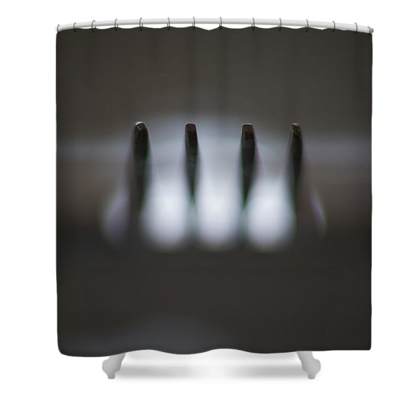 Fork Shower Curtain by Stylianos Kleanthous