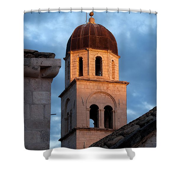 Franciscan Monastery Tower At Sunset Shower Curtain by Artur Bogacki