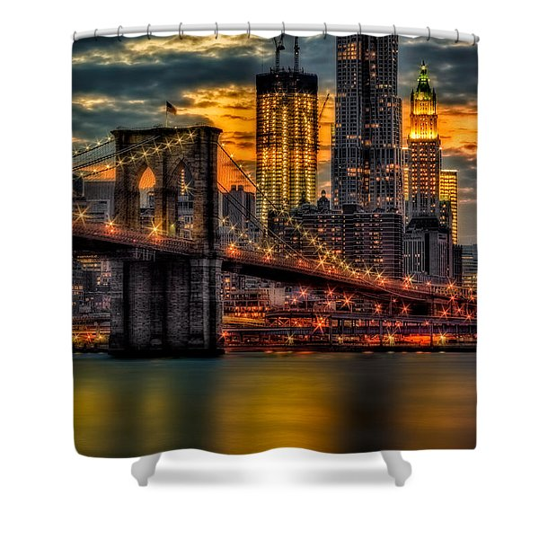 Freedom Rising Shower Curtain by Susan Candelario