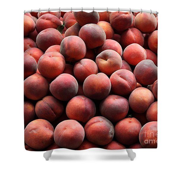 Fresh Peaches - 5D17816 Shower Curtain by Wingsdomain Art and Photography