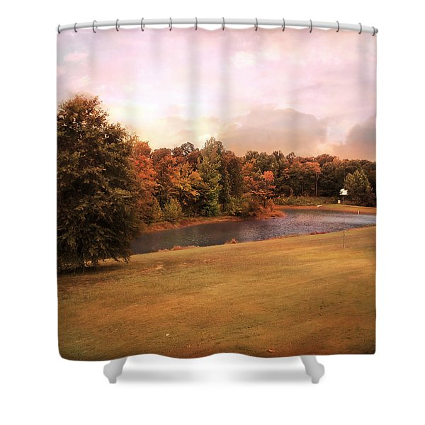 Friendship Pond Shower Curtain by Jai Johnson