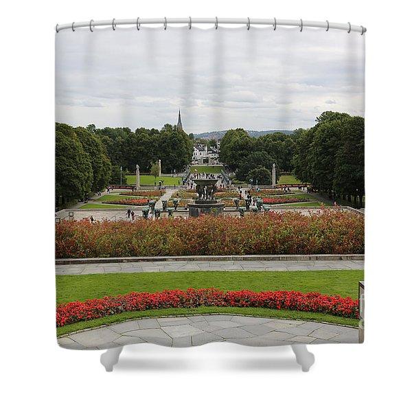 Frogner Park Shower Curtain by Carol Groenen