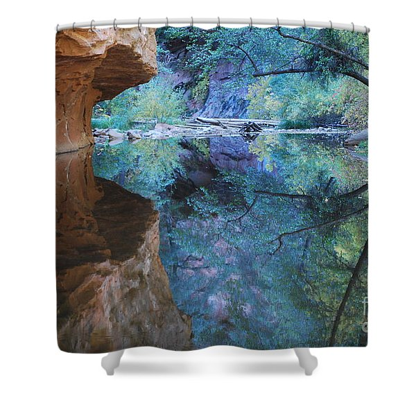 Fully Reflected Shower Curtain by Heather Kirk