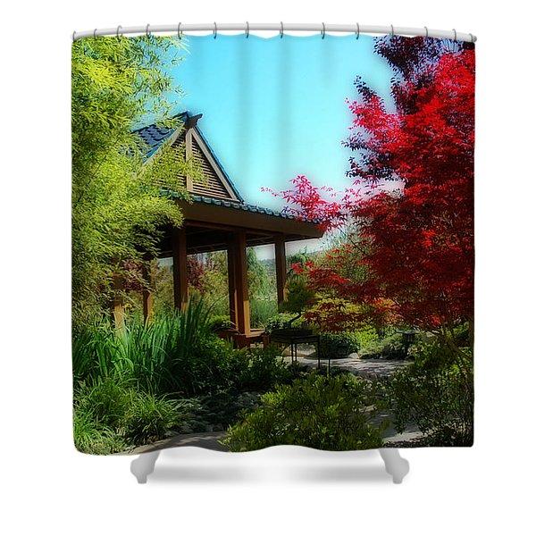 Garden Retreat Shower Curtain by Lynn Bauer
