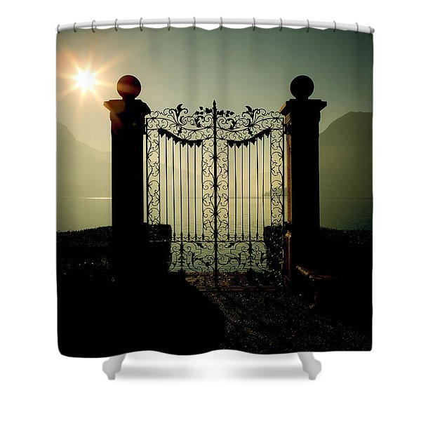 Gateway To The Lake Shower Curtain by Joana Kruse