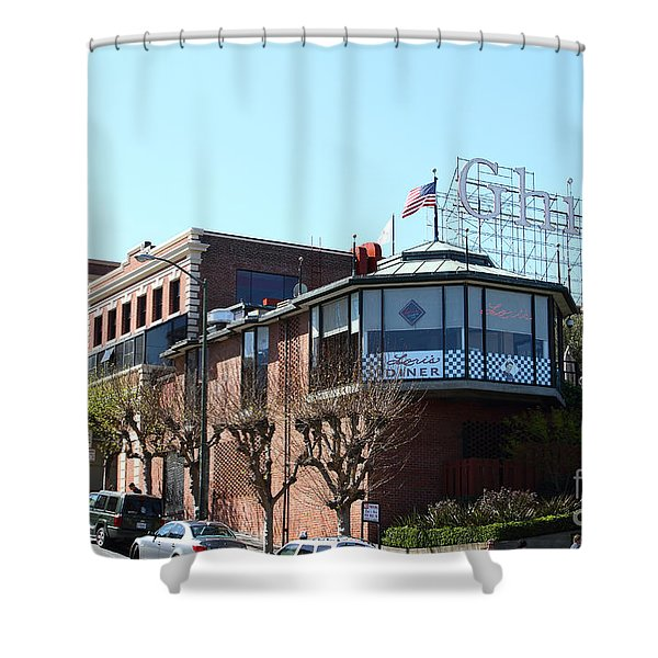 Ghirardelli Chocolate Factory San Francisco California . 7D14093 Shower Curtain by Wingsdomain Art and Photography